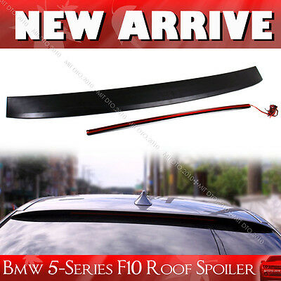 For BMW 5-Series F10 Saloon 4DR Unpainted Visor Spoiler Wing With LED Light