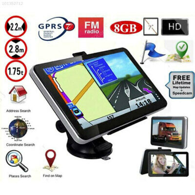 7509 Universal Car GPS Navigation Truck Navigator Automobile 8GB 7 Inches