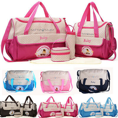 5pcs Baby Nappy Changing Bag Set Diaper Bags Shoulder Handbag Mommy Bag Trave