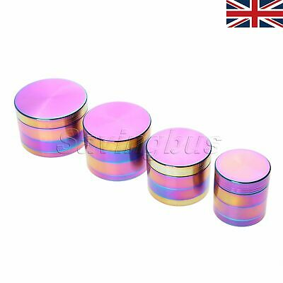 UK Stock Tobacco Herb Spice Grinder 4 Parts Rainbow Colour Crusher Muller Stash