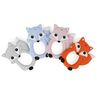 Fox Infant Baby Teether Food Grade Silicone Pacifier Soother Chew Teething Toy