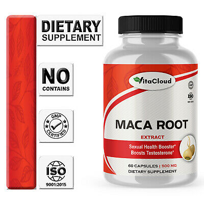 Maca Root Extract Sexual Energy Powder 180 Capsule 500mg Peruvian Pills Enhancer