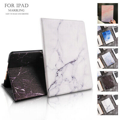 Marble Folding Case Smart Magnetic Stand Cover for iPad 10.2 10.5 9.7 Air Mini 5