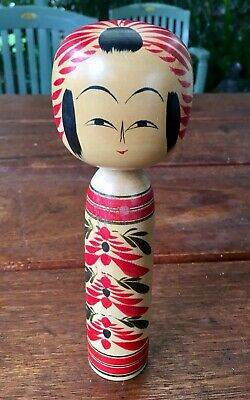 Vintage Asian Japanese Kokeshi Wooden Doll Hand Carved Toy Figurine
