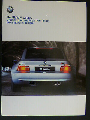 The BMW M Coupe 1998 Sales Brochure