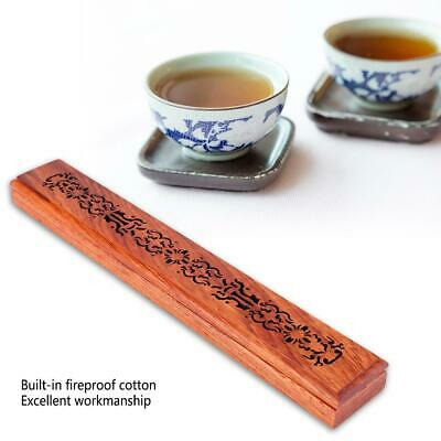 Vintage Wooden Incense Stick Holder Joss Insence Box Insense Burner Ash Catcher