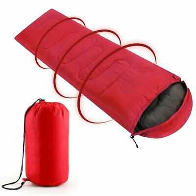 3/4 Season Sleeping Bag Waterproof Red Single Suit Case Camping Hiking Outdoor