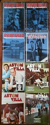 8 Aston Villa programmes - 1970s job lot (1972-1977)