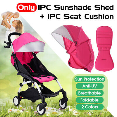 Anti-UV Sunshade Shed Cover + Seat Cushion Pad Stroller Accessories for Babyzen