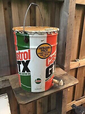 Castrol  22 Litres GTX Vintage Motor Oil Tin Can With Tap