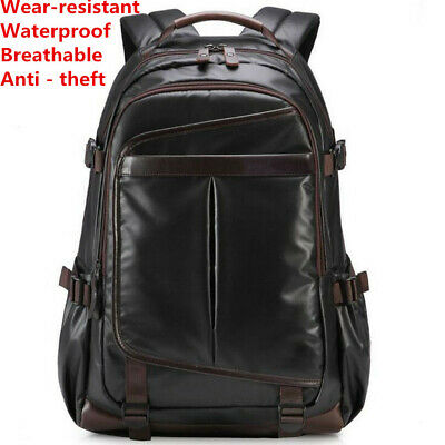 School Business Hiking Outdoor Leather knapsack  Shoulder Bag  Backpack