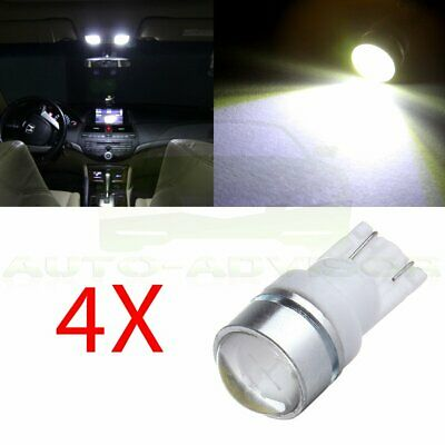 4x T10 194 168 W5W 579 1.5W Bulb LED High Power White For License Plate Light