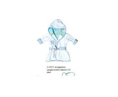 Angelica Home - Bathrobe Pink or Light Blue Baby Hooded 3/10 Months