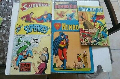 SUPERMAN NEMO KID lotto 5 nr Mondadori Williams cenisio