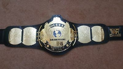 WWF Gold Winged Eagle World Heavyweight Wrestling Championship Title Belt Adult