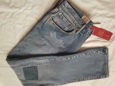 0f3b1e195f6 BNWT New Levis Levi's 502 Men Tapered Leg Warp Stretch Jeans W32 L32 Palm  Tree