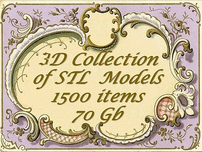 Collection Decor 1500 3D Stl Model Relief Artcam Cnc