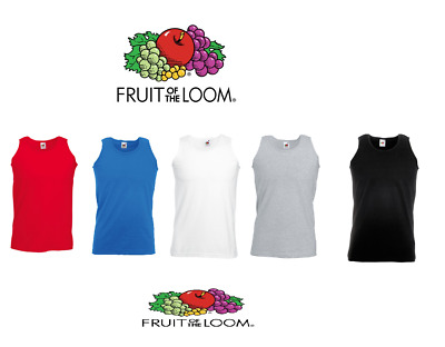 2,3, 5 Pack Mens Fruit of the Loom Plain Athletic Vests TankTop Gym Training Lot