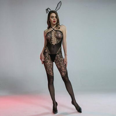 Cindylove The Ella Body Stocking with Open Gusset Tie up neck Line