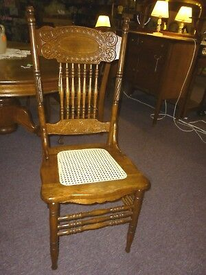 antique Oak chair Press back Larkin #1 refinished restored 1908