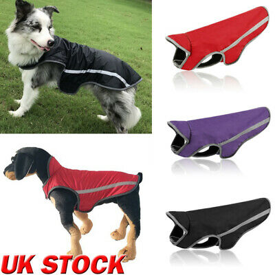 Waterproof Pet Dog Clothes Spring Winter Warm Padded Coat Vest Jacket Apparel