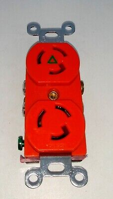 Legrand Pass Seymour IG4700 Isolated Ground 15A 125V Receptacle ORANGE FREE SHIP