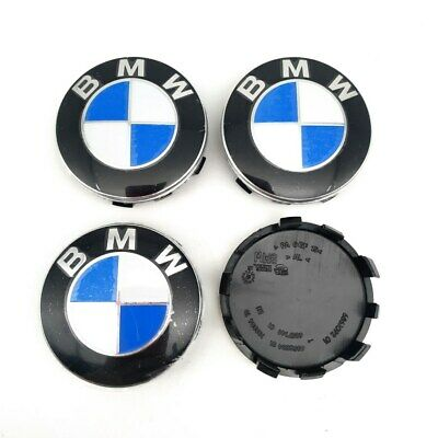 56mm 4Pcs Genuine BMW Emblem Logo Badge Hub Wheel Rim Center Cap