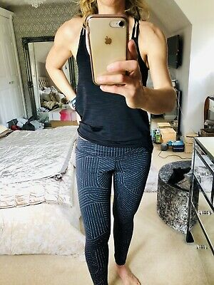 3a24d84665 Adidas, Sports Leggings, Yoga, Running Or Gym , Black With White Pattern,
