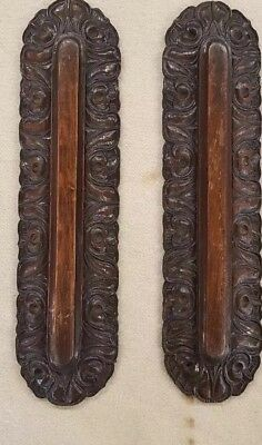 Architectural & Garden Antiques Pair Of Victorian Carved Oak Mouldings