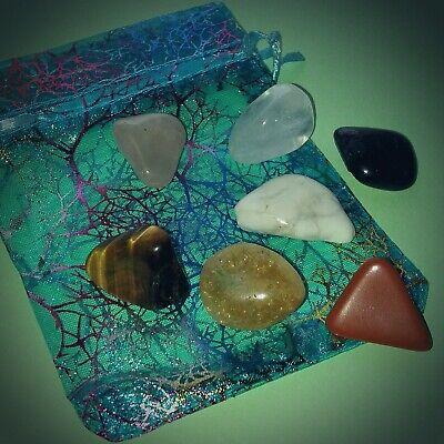Chakra set (2); 7 Large Crystal Tumble stones
