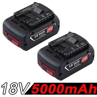 2x 5.0AH 18V Battery For Bosch BAT609 BAT618 17618 25618-01 with Fuel Guage