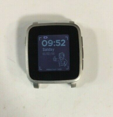 Pebble Time Steel Smartwatch for Apple/Android Devices 511-00024- Black
