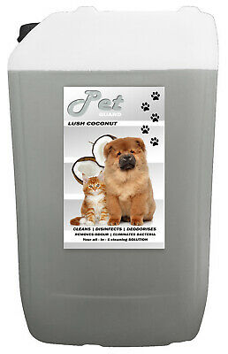 25L LUSH COCONUT Pet Cattery Kennel Disinfectant Deodouriser Cleaner Pet GUARD