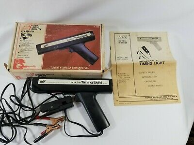Vintage Sears Inductive Timing Light Model 161.216840 Original Box And Manual