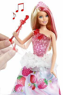 Barbie Doll, Dreamtopia Sweetville Princess Singing Light Up Doll, Giftwrapped
