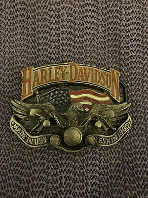 1991 Baron USA Harley Davidson Belt Buckle