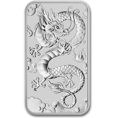 2019 Dragon Chinois Australie 1 Once Argent Silver Piece Oz Ounce 1 $ Dollar