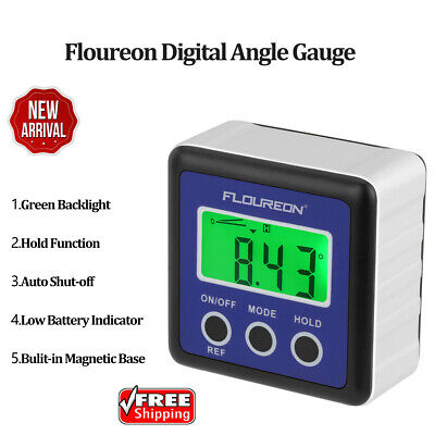 Digital LCD Gauge Bevel Box Angle Finder Protractor Inclinometer Meter Portable
