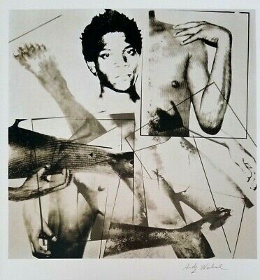 Andy Warhol Hand Signed Portrait Of Basquiat From Exclusive Catalog