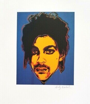Andy Warhol Hand Signed Portrait Of Prince From Exclusive Catalog