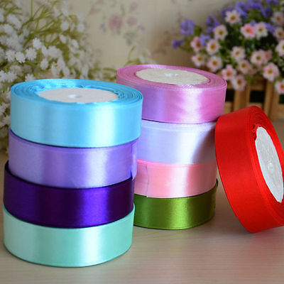 22 M 25mm (25 Yard) Silk Satin Ribbon Wedding Party Decor Invitation Card Gift