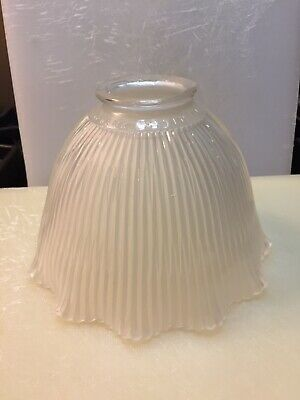 Vintage Holophane Extensive E-5 Frosted Ruffled Glass Shade