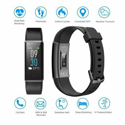 Waterproof Fitness Tracker Heart Rate Monitor Watch Band for Kids Women and Men