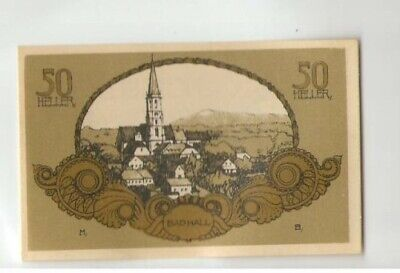 16909;Notgeld Bad Hall 50 Heller Gelb