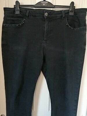 742fde947889c Plus Size 22 M&S MARKS & SPENCER PER UNA Stretchy Black Skinny Jeans  Trousers