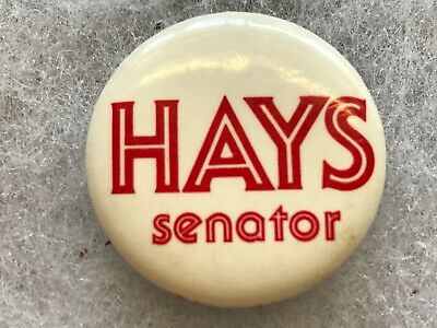 Vintage Kentucky Political Pin-back Button ~ Hays for Senator