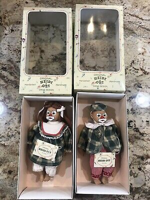 "Little Ones ""Billy & Jilly"" 12"" Swiss Design Original Heidi Ott Doll In Box"