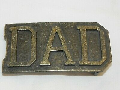 Vintage Solid Brass Heavy DAD Belt Buckle FREE SHIPPING!!