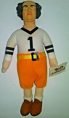 VINTAGE 1999 Larry Three Stooges Stuffed Plush Doll Figure Football Uniform