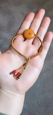 2.24 GR Natural Genuine Old Ancient Antique Moroccan Baltic Amber Bead Bracelet